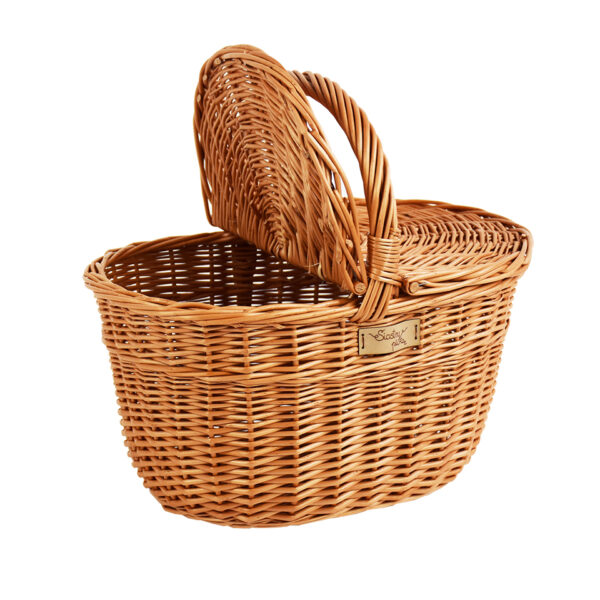 Kosz piknikowy owalny z klapkami