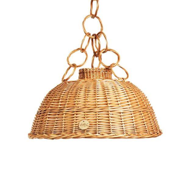 Wisząca lampa z wikliny